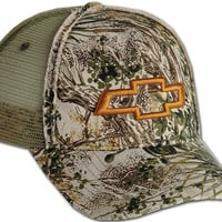 Chevrolet Camo Distressed Mesh Cap-Chevy Mall