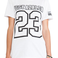 Iggy Azalea Football Style Tee in White