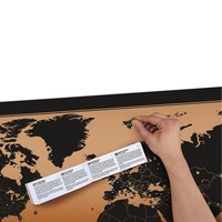 Adventure Scratch Map Personalized Travel Poster (Size: 61.5cm by 5.8cm by 5.8cm, Color: Black)