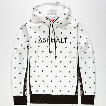 Asphalt Yacht Club Oblong Mens Hoodie White  In Sizes