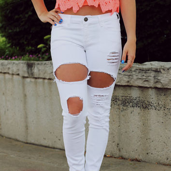 White Sandy Beach Jeans