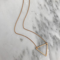 Triangle Necklace - Available in 2 colors
