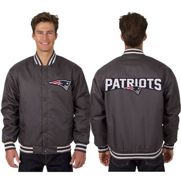 New England Patriots Poly Twill Jacket - Charcoal