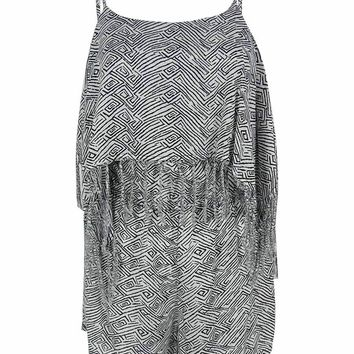 Volcom Women's Fringe Cover-Up Romper