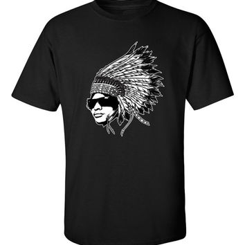 OG Original Gangsta Native American Headdress Chief hot hip hop LA Los Angeles Compton dope t-shirt tee shirt Mens Womens Ladies  MLG-1132