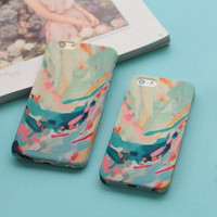 Fashion personality oil painting mobile phone case for iphone 5 5s SE 6 6s 6plus 6s plus + Nice gift   box!
