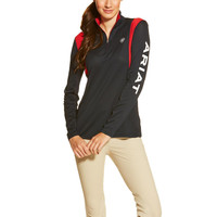 Ariat Ladies Team Sunstopper 1/4 Zip Shirt - Navy