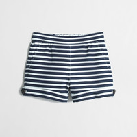 FACTORY GIRLS' STRIPE COTTON SAILOR SHORT