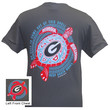 New Georgia Bulldogs Turtle Wave Girlie Bright T Shirt