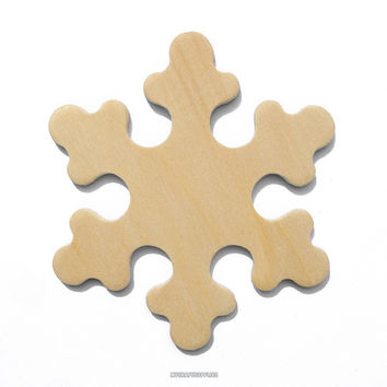 25 Natural Wood Snowflakes, Ready to Embellish for Holiday Crafts (2 3/8 Inches)