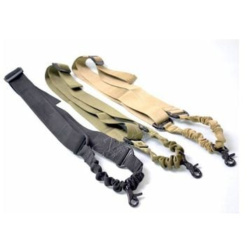 Tactical 1 Point Adjustable Bungee Rifle Gun Sling Strap System Tactical Gun Sling Airsoft Hunting Sling