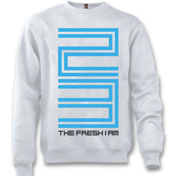 The Fresh I Am Clothing 23 Legend Blue 11's White Crewneck