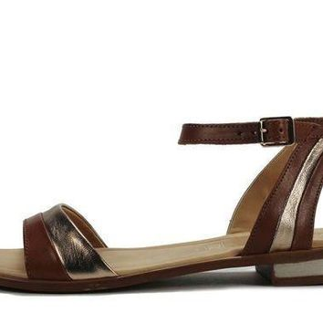 CREYI7E Seychelles for Women: Wont Stop Whiskey Gold Leather Sandal