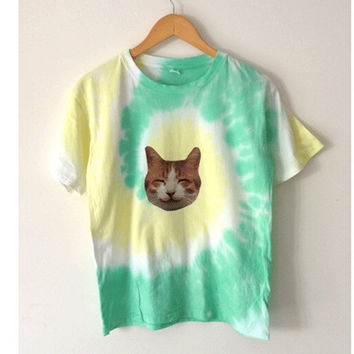 Cute Cat Tie-dye T-shirt