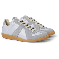 Maison Martin Margiela - Suede and Leather-Panelled Sneakers | MR PORTER