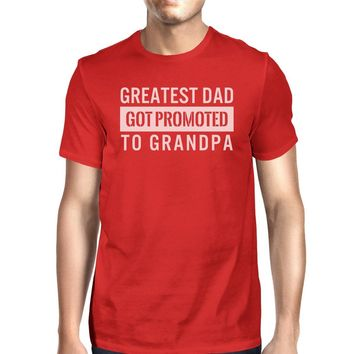 Got Promoted To Grandpa Men's Funny Grandpa Shirt For Fathers Day