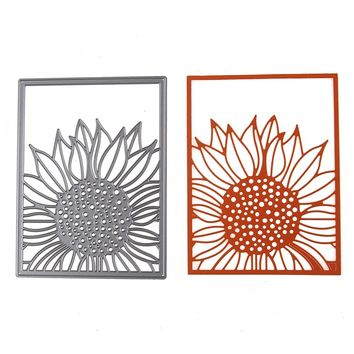 96*127mm Sunflower Dies Cut Album Decoration Scrapbook Craft Die 3D Stamp DIY Embossing Scrapbooking Card Paper Cards Template