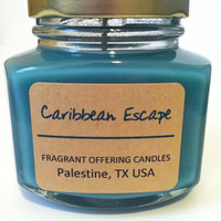 Handmade CARIBBEAN ESCAPE scented 4 oz. Soy by FragrantOffering512