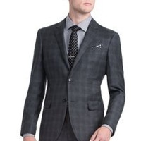TONAL GLEN PLAID SUIT