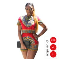 Summer Style Sexy Rompers Womens Jumpsuit DASHIKI Tops and Shorts Ladies Two Piece Playsuit Plus Size Jumpsuits 80201