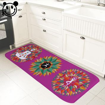 Autumn Fall welcome door mat doormat PEIYUAN Welcome Indoor  Print Pure Color Yoga Moves Colorful Leaves Meditation Yoga Mat  Floor Mat Rugs AT_76_7