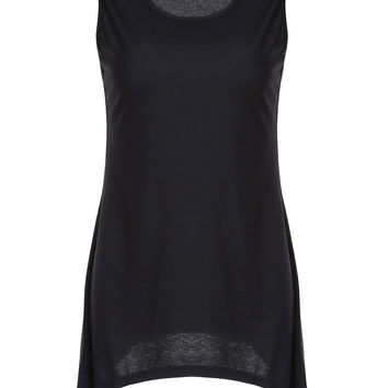 Solid Color Asymmetric Tank Top For
