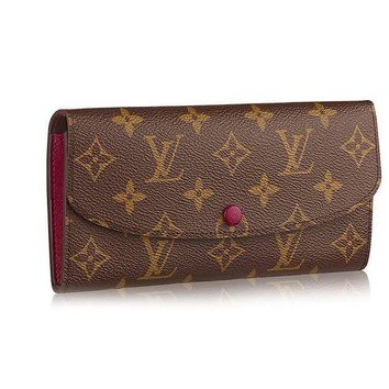 DCCK Louis Vuitton Monogram Canvas Monogram Canvas Emilie Wallet Article: M60697 Fuchsia
