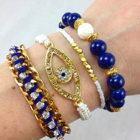 Indigo Eyes Bracelet Set