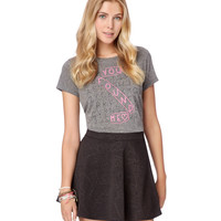 Aeropostale Womens Embossed Paisley Skirt