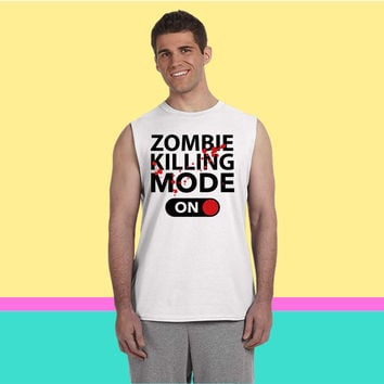 Zombie Killing Mode On Sleeveless T-shirt