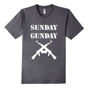 Sunday Gunday Funny Suns Out Guns Out Shirt Gun Rights