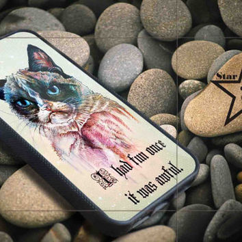 Grumpy Cat galaxy iPhone Case, iPhone 4/4S, 5/5S, 5c, Samsung S3, S4 Case, Hard Plastic and Rubber Case By Dsign Star 08