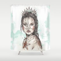 Lost Mermaid Shower Curtain by Frances Louw