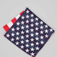 USA Flag Print Bandana- Red Multi One