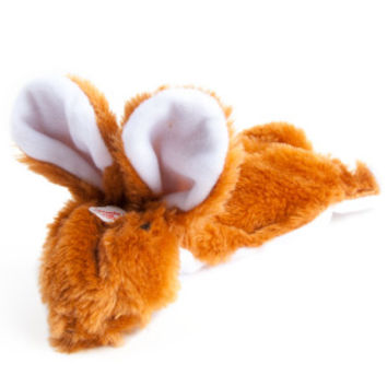 ToyShoppe® Stuffing Free Crinkle Rabbit Dog Toy