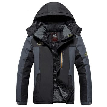 Thick Winter Jackets Men Waterproof Windproof Warm Fleece Lining Coat Black Men's Casual Jacket
