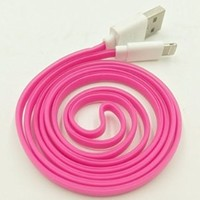 Streer® 1 PCS 10 FT 3 M Extra Long 8 Pin to USB 3 Meter Sync Transfer Data and Charger Cord Wire for iPhone 6 plus, iPhone 6, iPhone 5s 5c 5, iPad Air, iPad mini, iPad mini 2, iPad 4, iPod 5, and iPod Nano 7. (Rose)