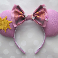 Rapunzel Inspired Mouse Ears Headband, Custom Ears