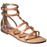 Women's Sam & Libby Keira Tall Gladiator Sandal with Studded Straps - Cognac