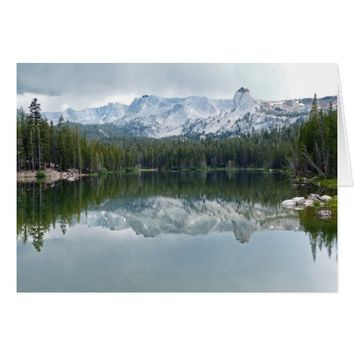 Mountains, Reflection , Lake, Blank Inside Card