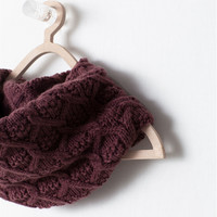 Cross stitch knit snood