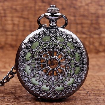 Classic Stainless Steel Mechanical Pocket Watch