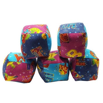 Soft Baby Blocks in Alphabet Prints from Laurel Burch in Bright Colors