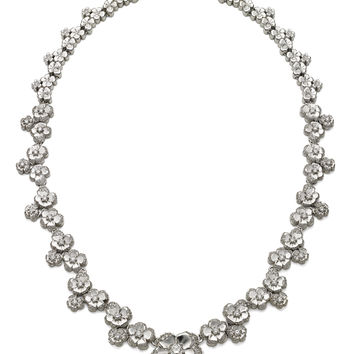 Pave Cherry Blossom Collar Necklace | Moda Operandi