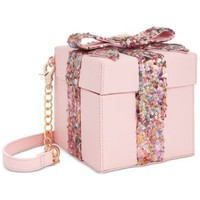 Betsey Johnson Gift Box Sequin Crossbody | macys.com