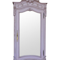 Fabulous and Baroque — Christelle Single Door Mirrored Wardrobe - Lilac