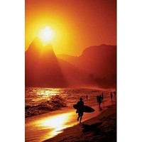 Ipanema Beach-Rio De Janeiro-Surfer, Photography Poster Print, 24 by 36-Inch