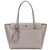 Tory Burch Parker Small Leather Tote - Dust Storm / Cardamom