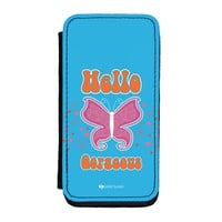 Sassy - Hello Gorgeous #10433 Premium Faux PU Leather Case for iPhone 5C by Sassy Slang