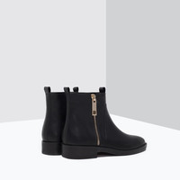 Basic leather ankle boots